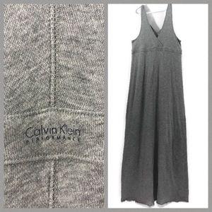 Calvin Klein Performance Jersey A-line Maxi Dress